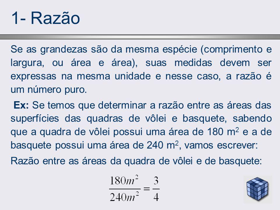 1- Razão