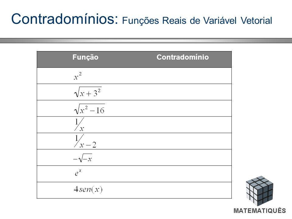 Contradomínios: Funções Reais de Variável Vetorial