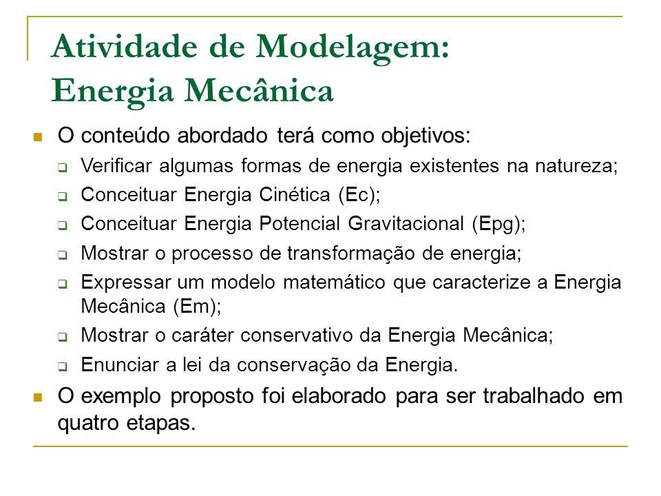 Atividade de Modelagem: Energia Mecânica