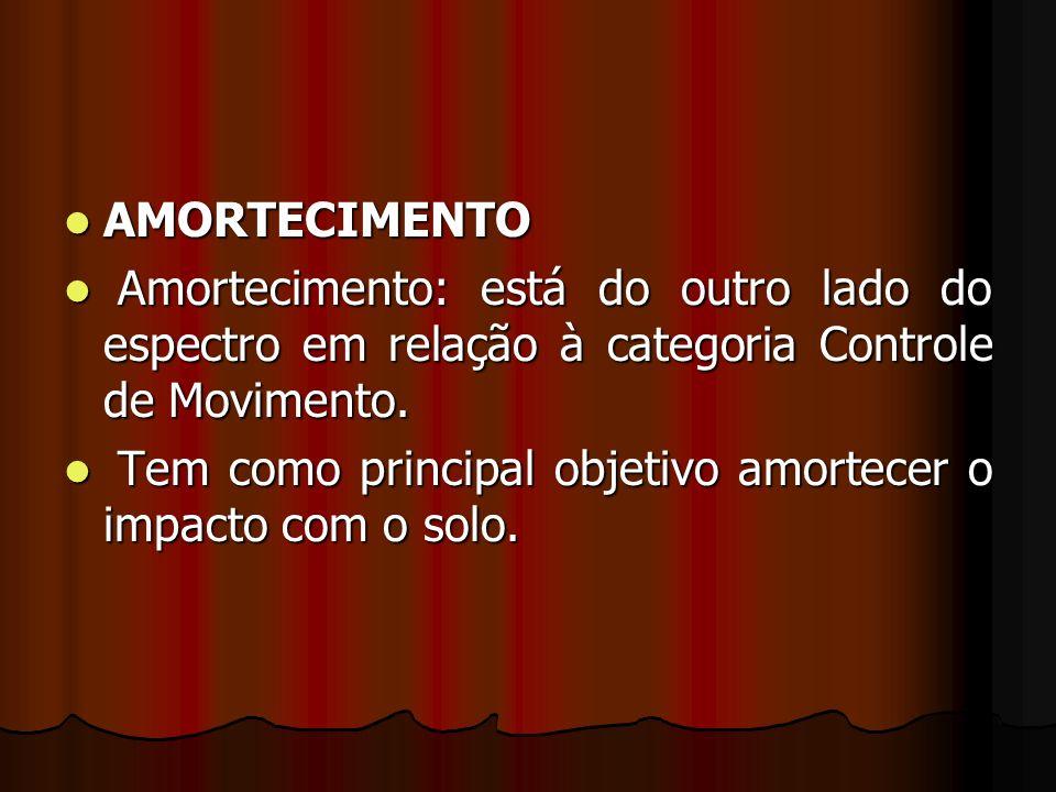 AMORTECIMENTO Amortecimento: está do outro lado do espectro em relação à categoria Controle de Movimento.