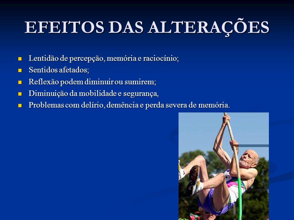 EFEITOS DAS ALTERAÇÕES