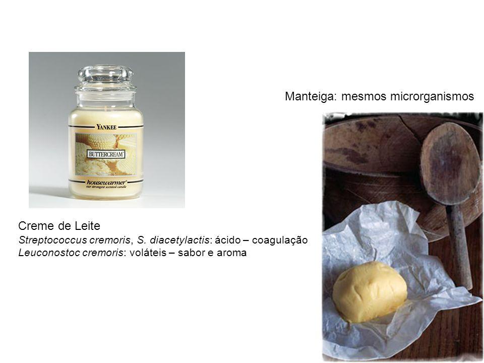 Manteiga: mesmos microrganismos