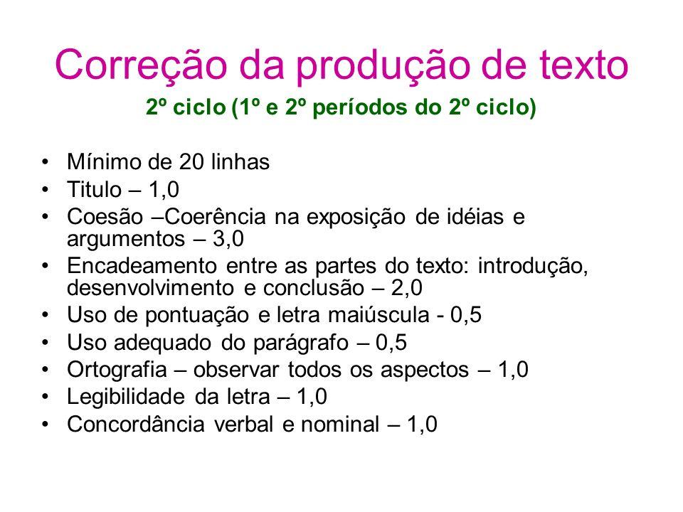 Correção da produção de texto