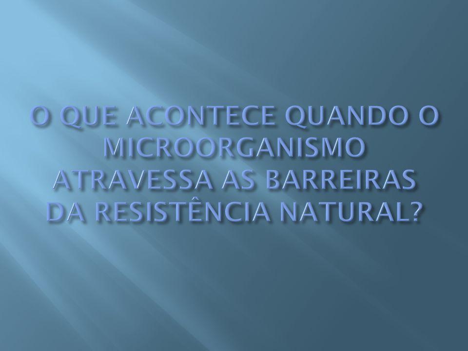 O QUE ACONTECE QUANDO O MICROORGANISMO ATRAVESSA AS BARREIRAS DA RESISTÊNCIA NATURAL