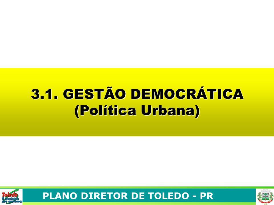 3.1. GESTÃO DEMOCRÁTICA (Política Urbana)