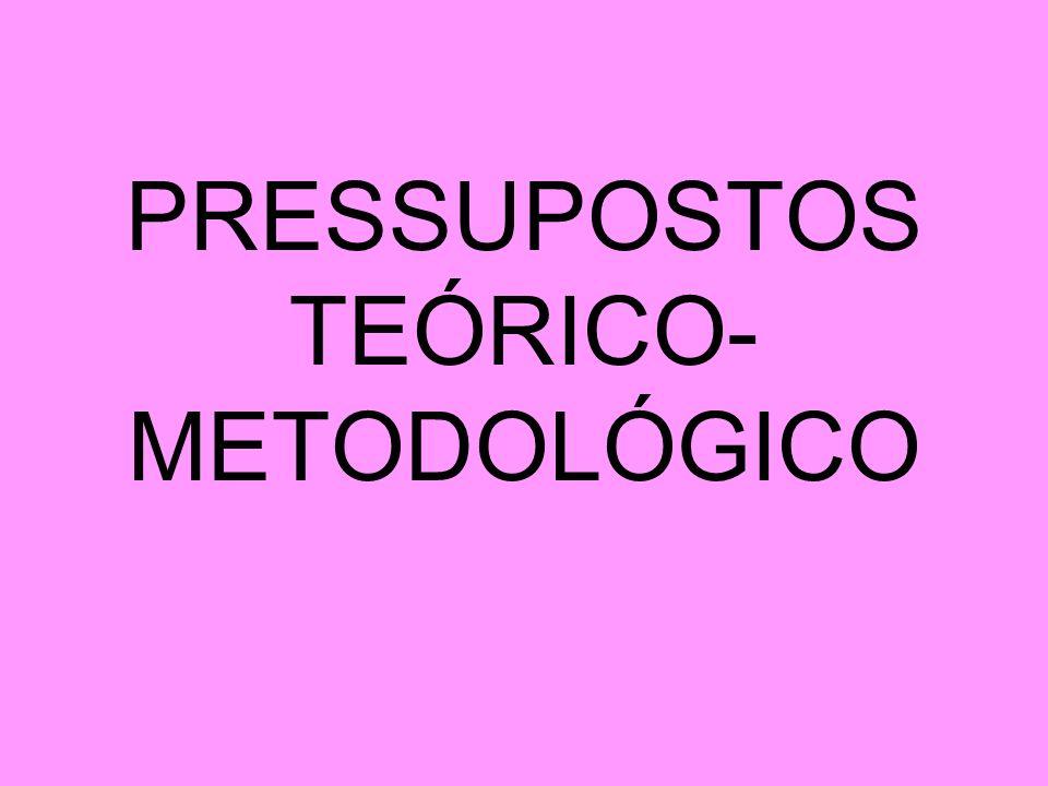 PRESSUPOSTOS TEÓRICO-METODOLÓGICO