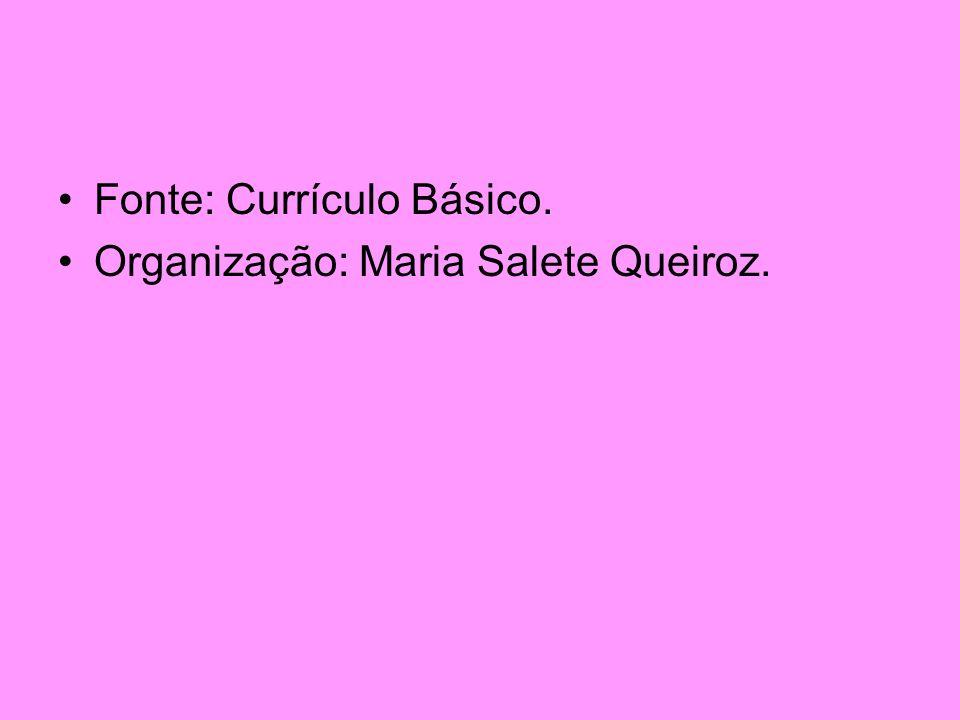 Fonte: Currículo Básico.