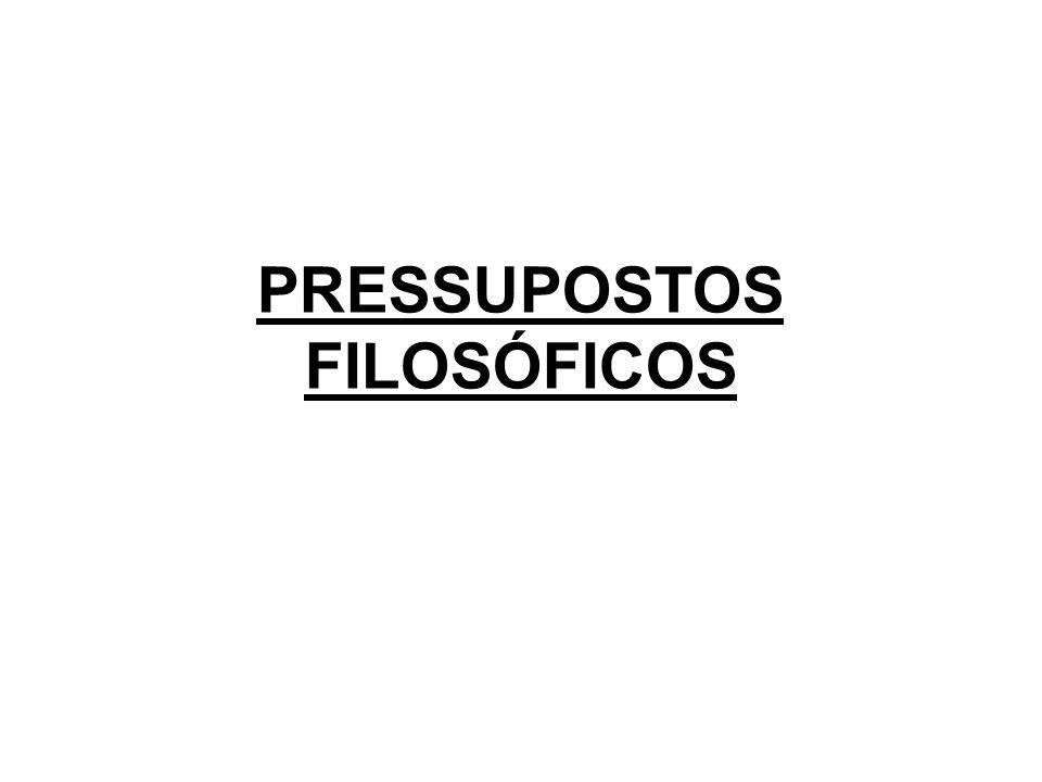PRESSUPOSTOS FILOSÓFICOS