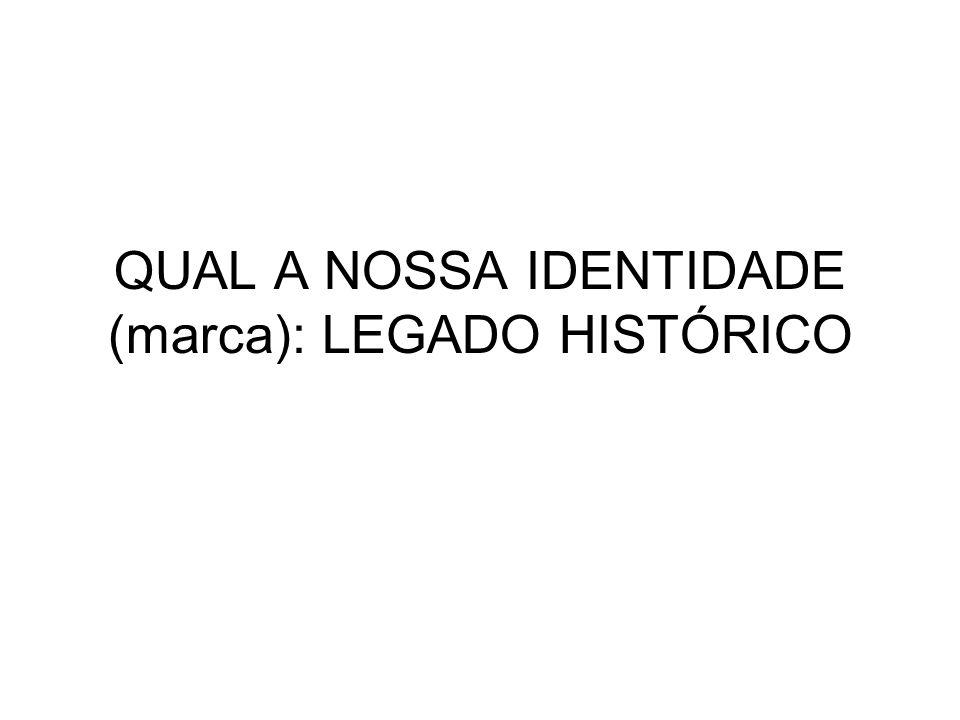 QUAL A NOSSA IDENTIDADE (marca): LEGADO HISTÓRICO