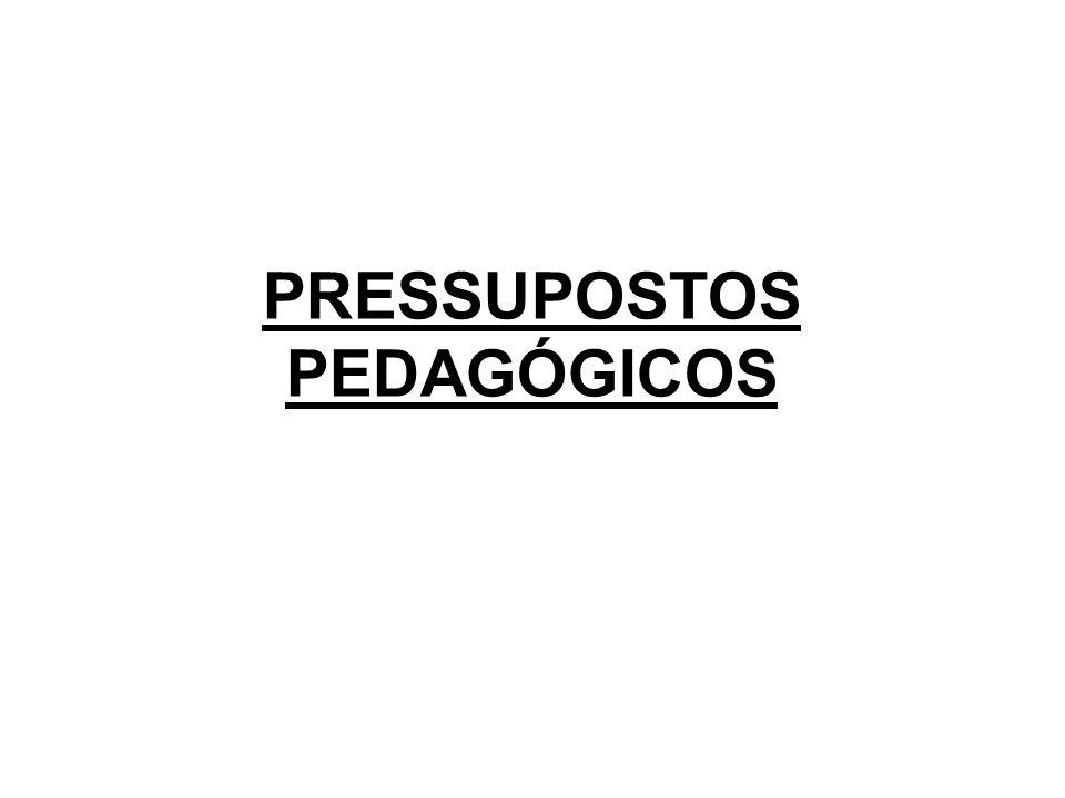 PRESSUPOSTOS PEDAGÓGICOS