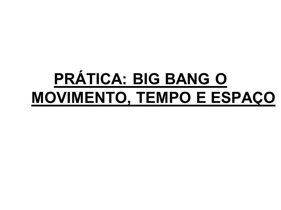 PRÁTICA: BIG BANG O MOVIMENTO, TEMPO E ESPAÇO