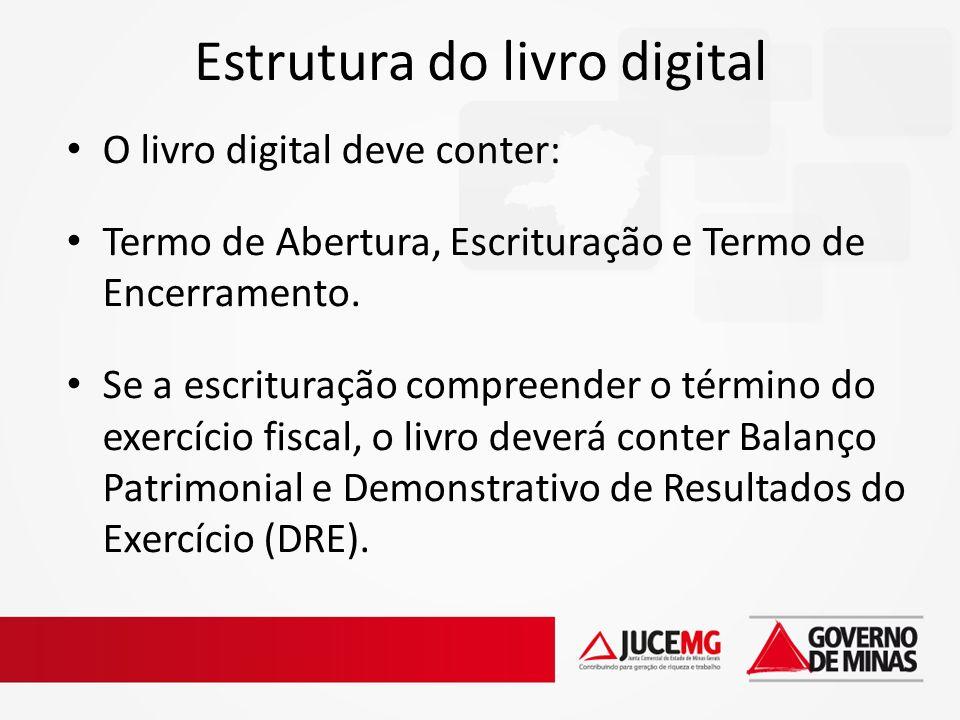 Estrutura do livro digital