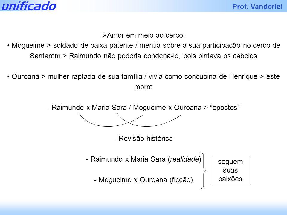 Raimundo x Maria Sara / Mogueime x Ouroana > opostos