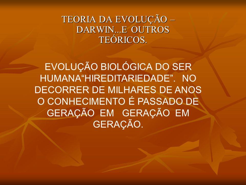 TEORIA DA EVOLUÇÃO – DARWIN...E OUTROS TEÓRICOS.
