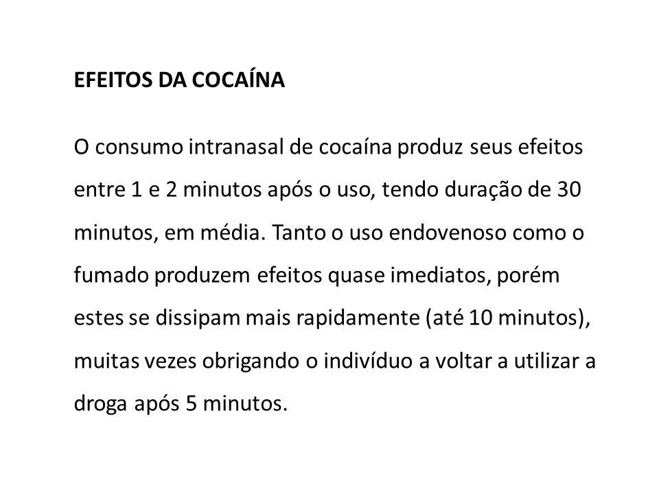 EFEITOS DA COCAÍNA