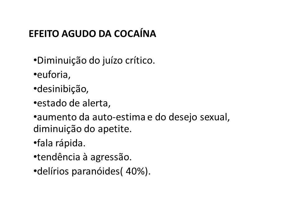 EFEITO AGUDO DA COCAÍNA