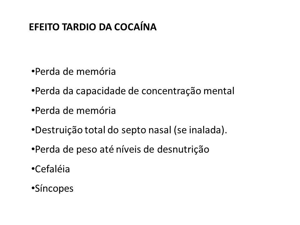 EFEITO TARDIO DA COCAÍNA