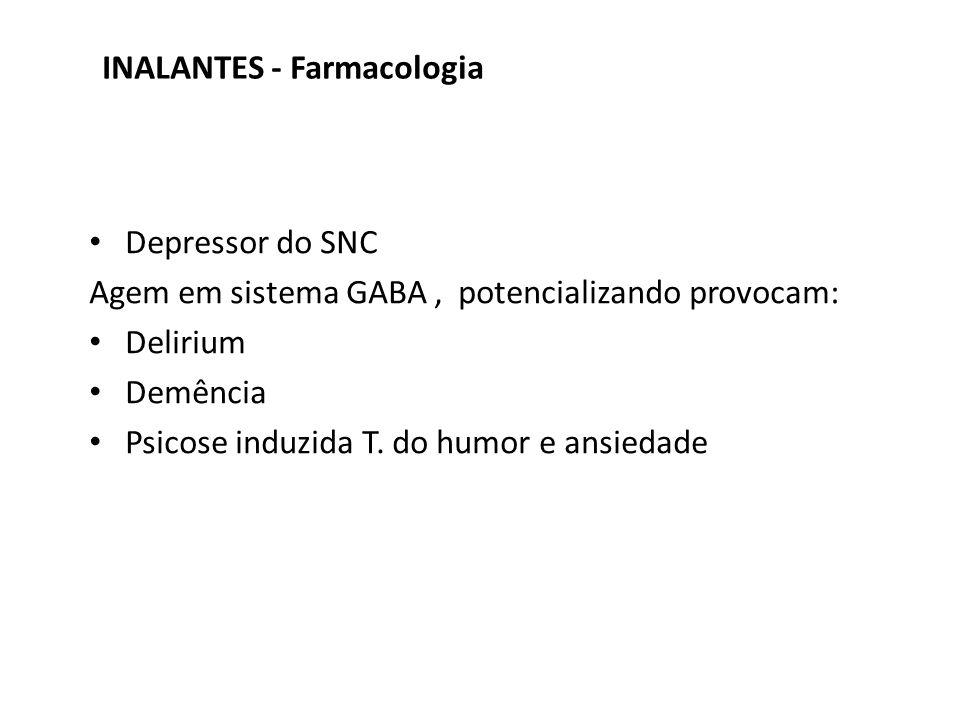 INALANTES - Farmacologia