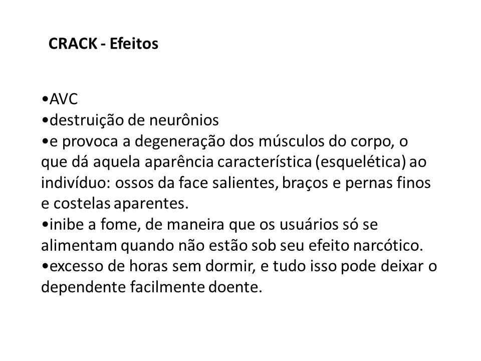 CRACK - EfeitosAVC. destruição de neurônios.