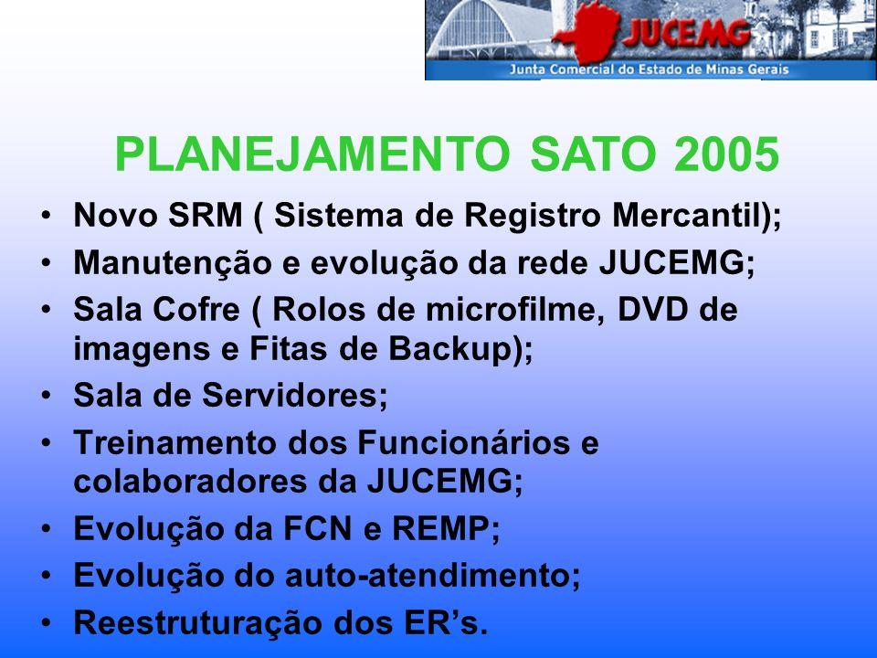PLANEJAMENTO SATO 2005 Novo SRM ( Sistema de Registro Mercantil);