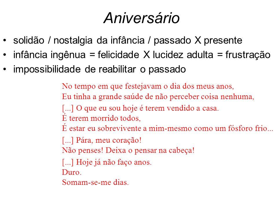 Aniversário solidão / nostalgia da infância / passado X presente