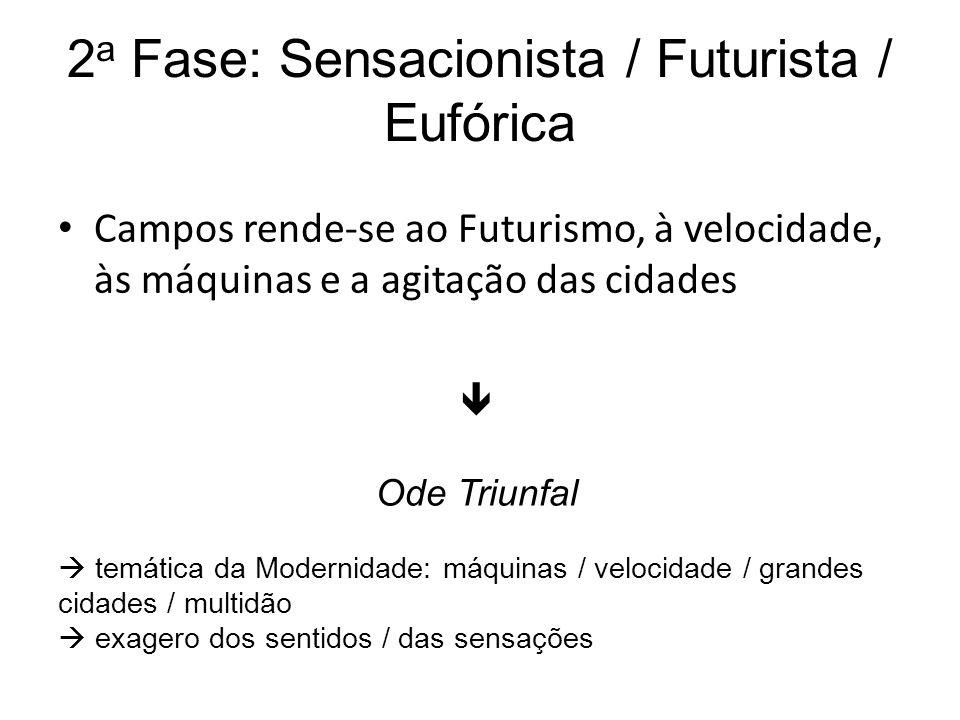 2a Fase: Sensacionista / Futurista / Eufórica
