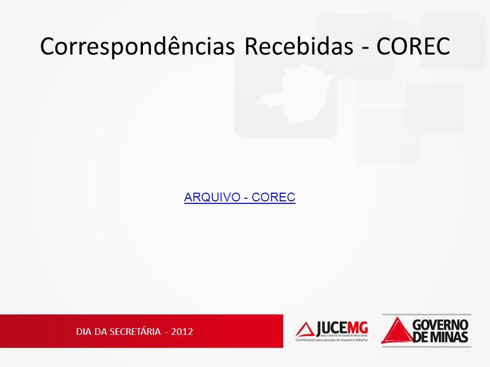 Correspondências Recebidas - COREC