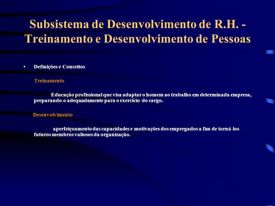 Subsistema de Desenvolvimento de R. H