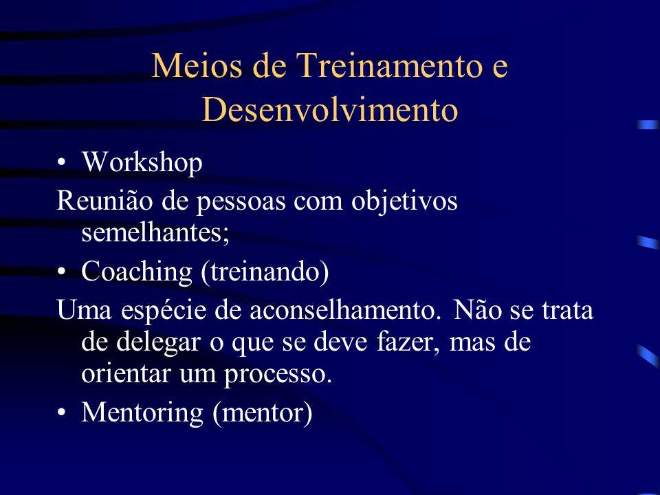 Meios de Treinamento e Desenvolvimento