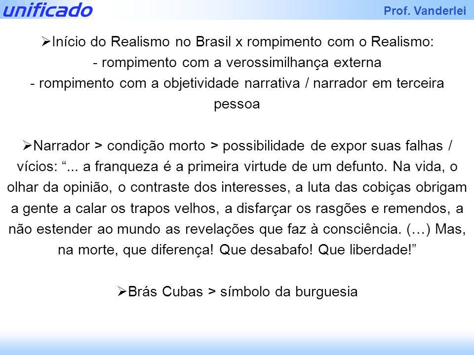 Início do Realismo no Brasil x rompimento com o Realismo: