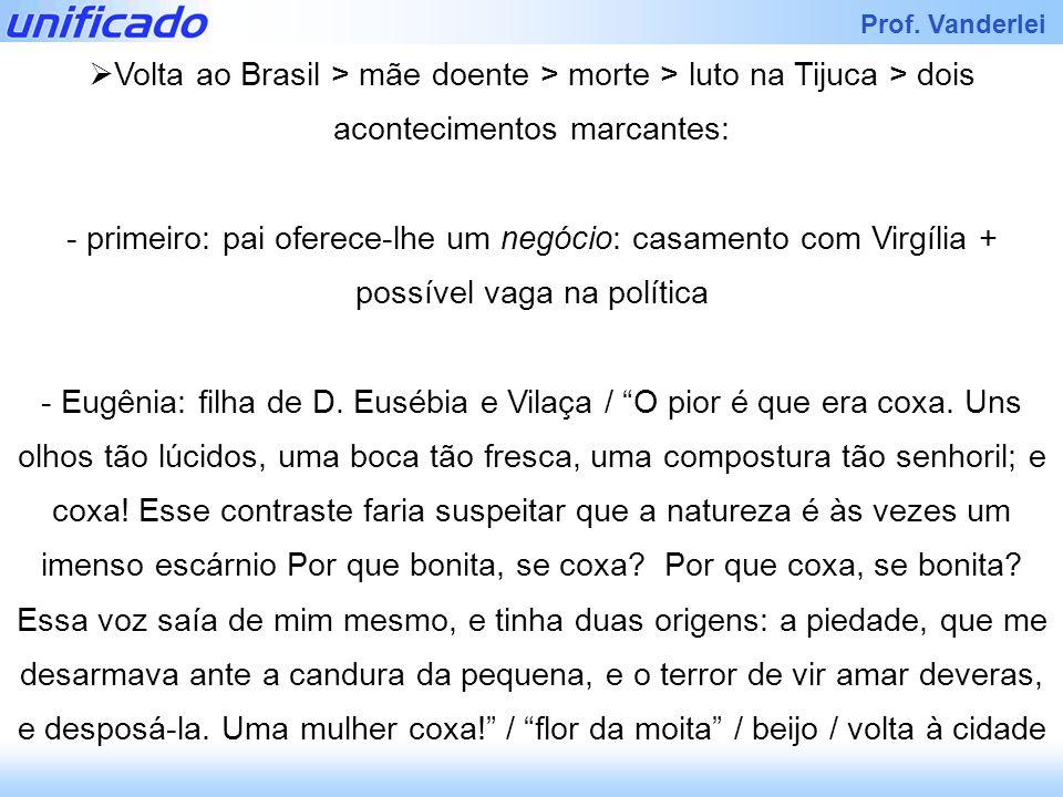 Volta ao Brasil > mãe doente > morte > luto na Tijuca > dois acontecimentos marcantes: