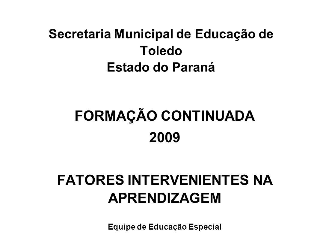 Secretaria Municipal de Educação de Toledo Estado do Paraná