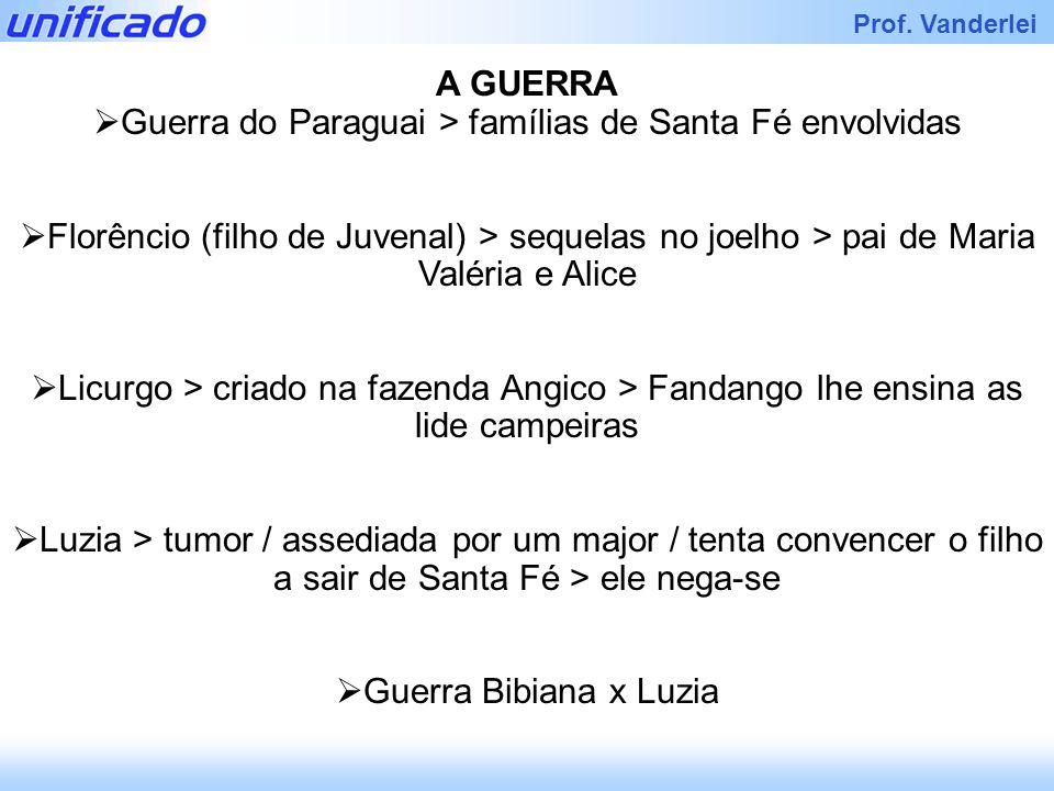Guerra do Paraguai > famílias de Santa Fé envolvidas