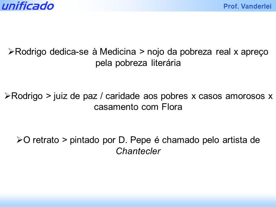 Rodrigo dedica-se à Medicina > nojo da pobreza real x apreço pela pobreza literária