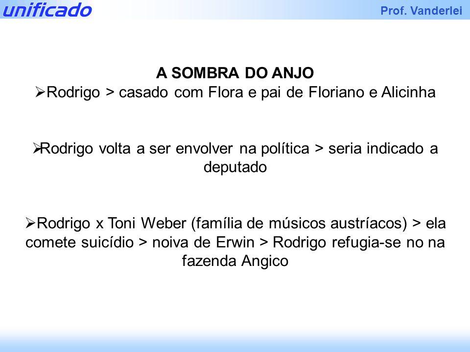 Rodrigo > casado com Flora e pai de Floriano e Alicinha