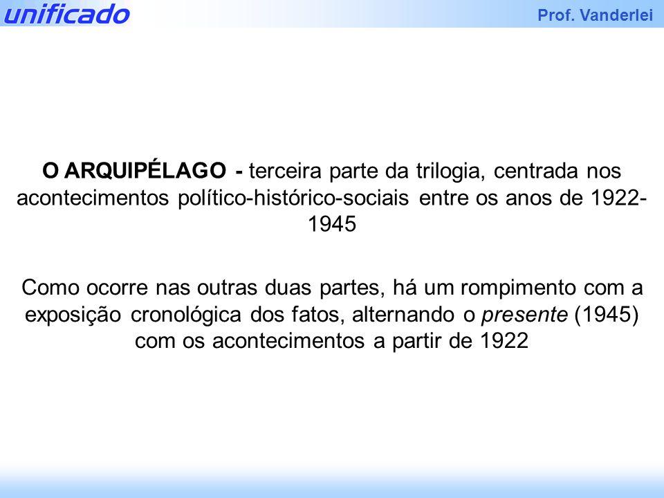 O ARQUIPÉLAGO - terceira parte da trilogia, centrada nos acontecimentos político-histórico-sociais entre os anos de 1922-1945
