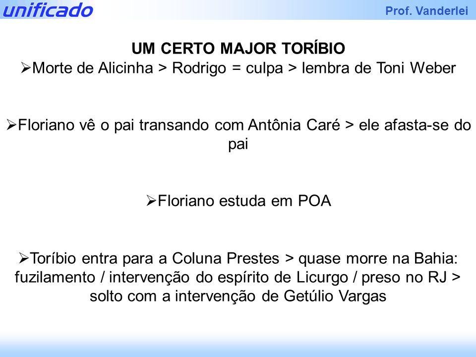Morte de Alicinha > Rodrigo = culpa > lembra de Toni Weber