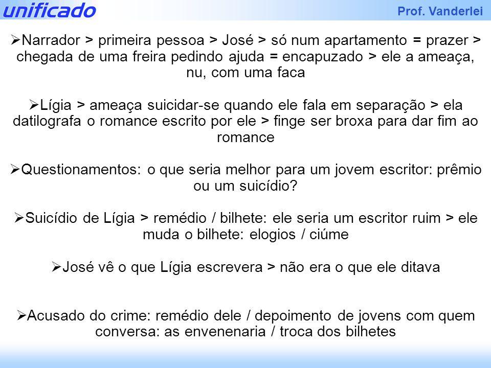 José vê o que Lígia escrevera > não era o que ele ditava