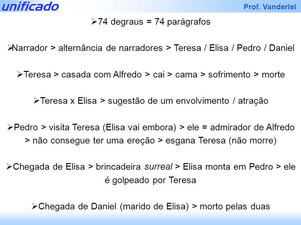 Teresa x Elisa > sugestão de um envolvimento / atração