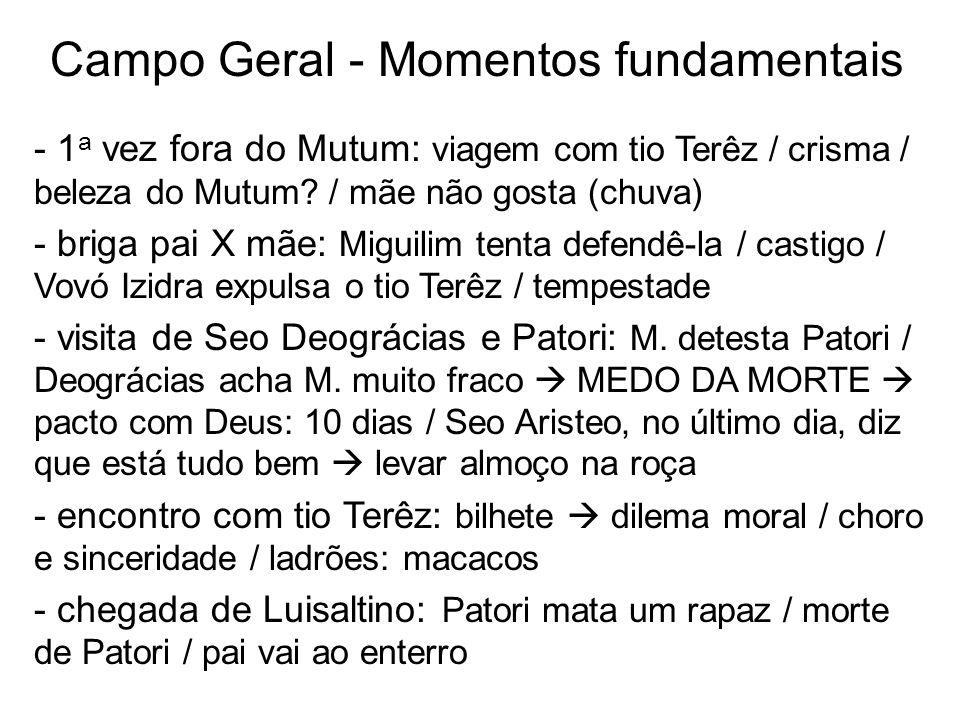Campo Geral - Momentos fundamentais