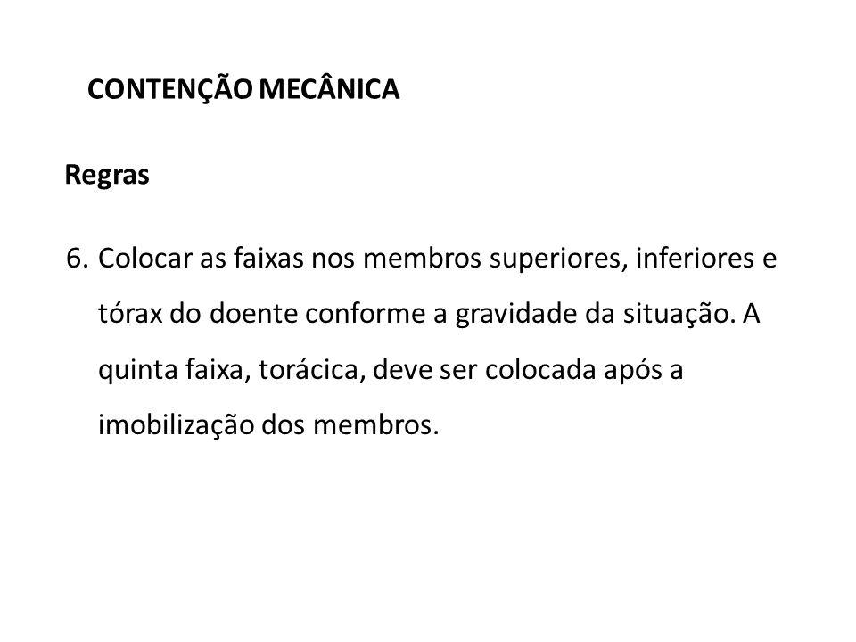 CONTENÇÃO MECÂNICA Regras.