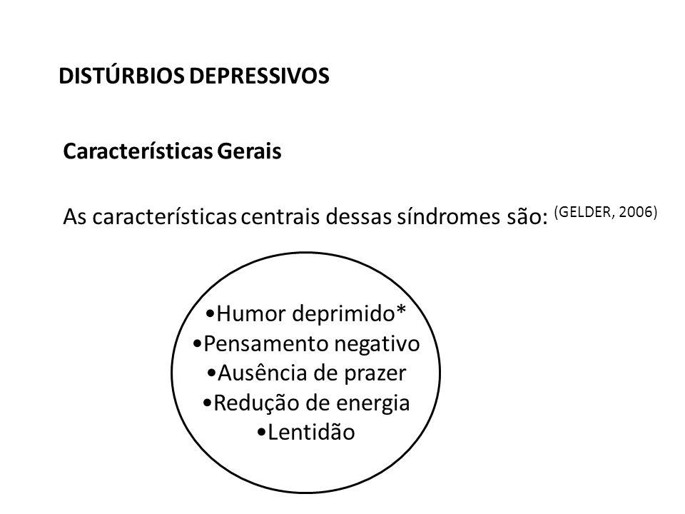 DISTÚRBIOS DEPRESSIVOS