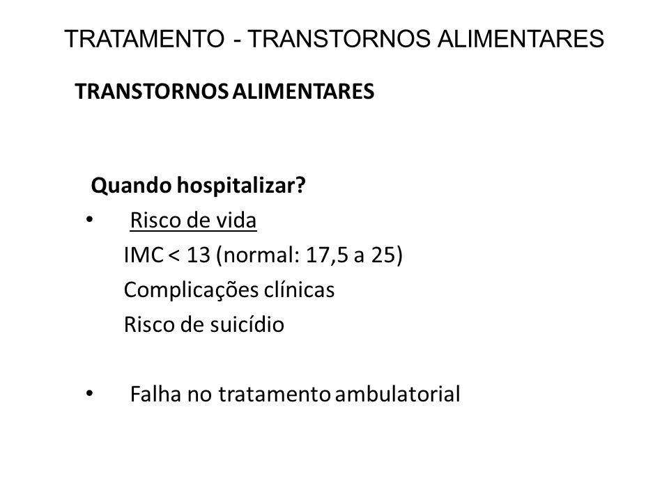 TRATAMENTO - TRANSTORNOS ALIMENTARES