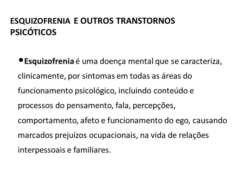 ESQUIZOFRENIA E OUTROS TRANSTORNOS PSICÓTICOS
