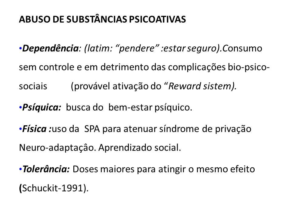 ABUSO DE SUBSTÂNCIAS PSICOATIVAS