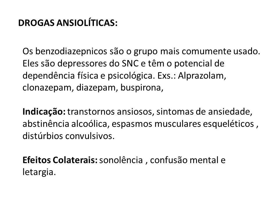 DROGAS ANSIOLÍTICAS: