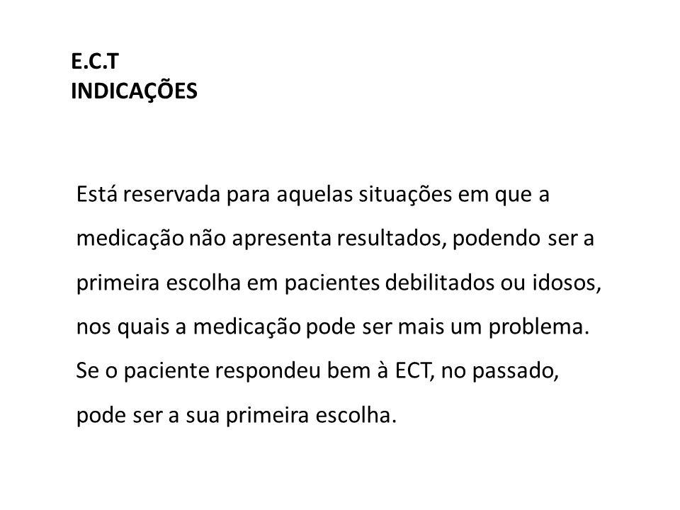 E.C.T INDICAÇÕES.