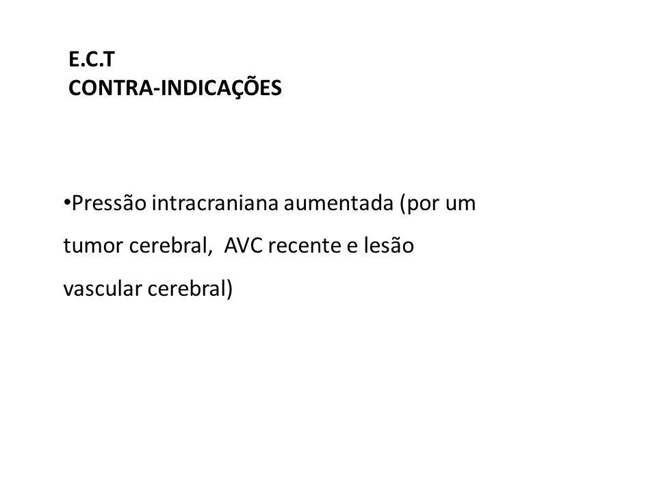 E.C.T CONTRA-INDICAÇÕES.