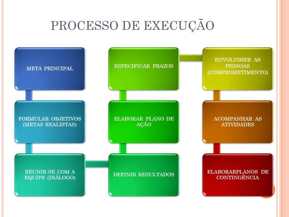 PROCESSO DE EXECUÇÃO META PRINCIPAL