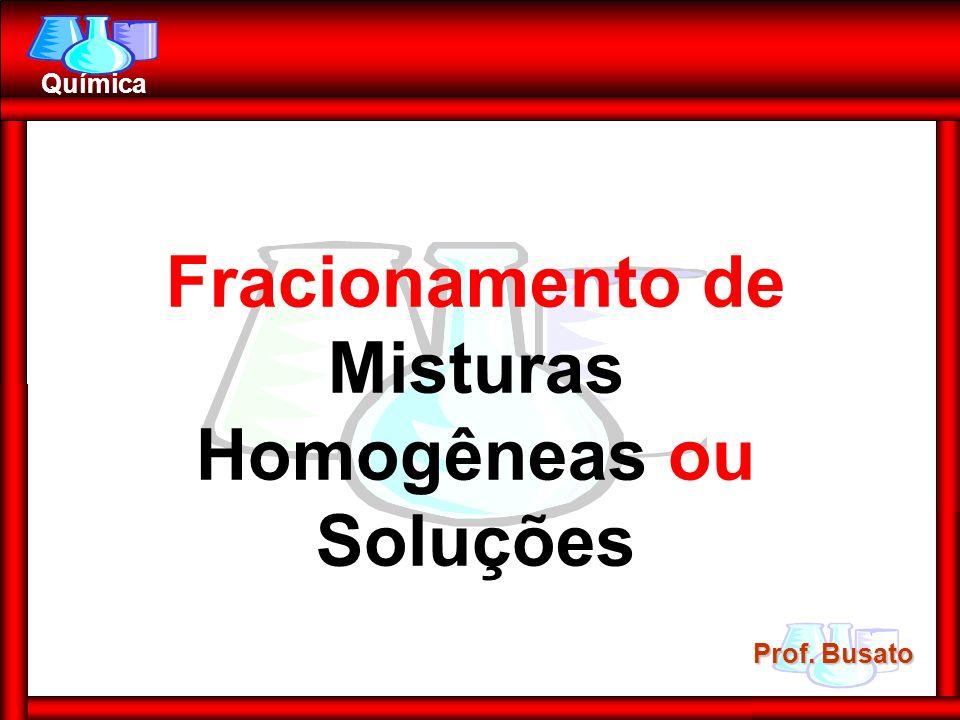 Fracionamento de Misturas Homogêneas ou Soluções